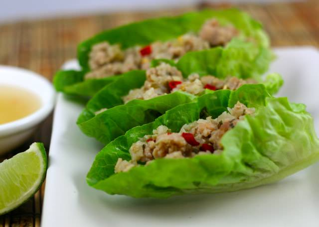 Thai Chicken Lettuce Cup