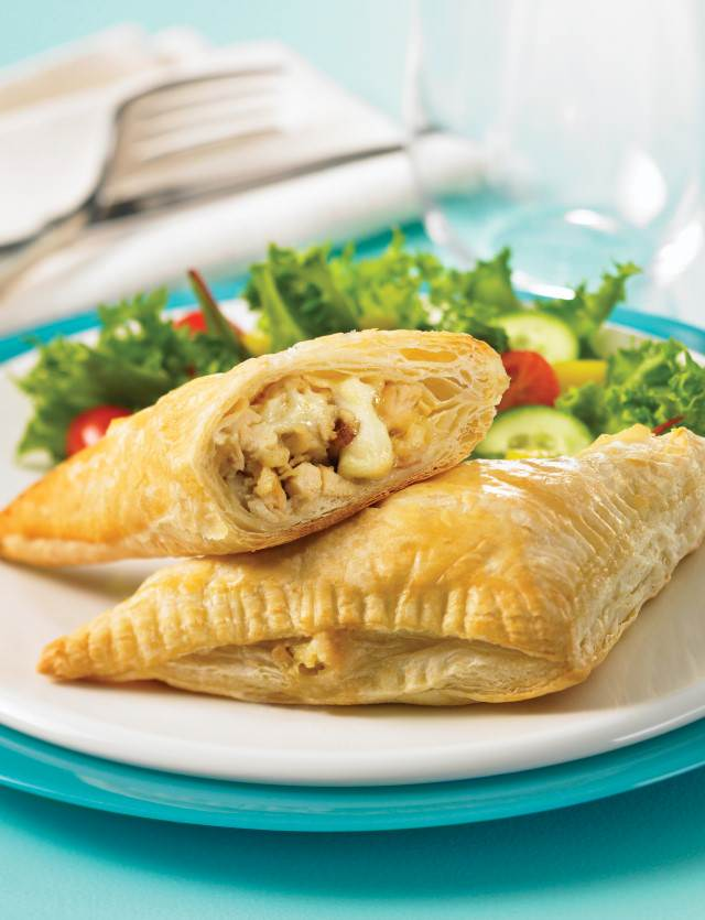 Chicken Apple Brie Turnovers